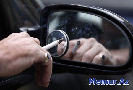 Avtomobillərdə siqaret çəkmək qadağan olunsun - TƏKLİF