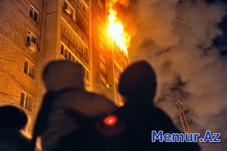 Xırdalanda binada yanğın: 30 nəfər təxliyə olundu