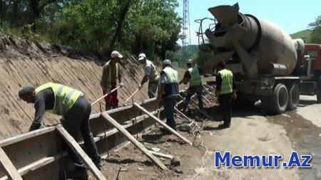 Sürüşmə zonasında yerləşən Lənkəran-Lerik yolu yenidən qurulur