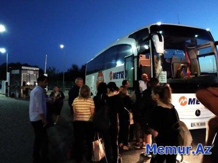 İstanbuldan Bakıya gələn avtobus qəzaya düşdü