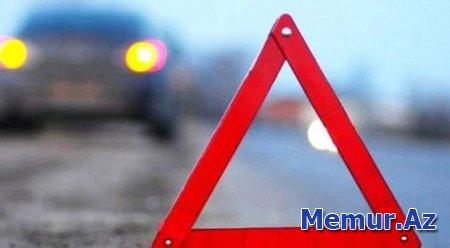 Sabunçuda iki avtomobil toqquşdu: Yaralı var