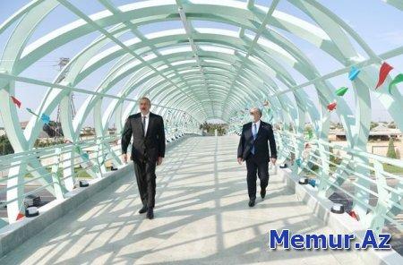 İlham Əliyev Bakıda yerüstü piyada keçidinin açılışında - YENİLƏNİB