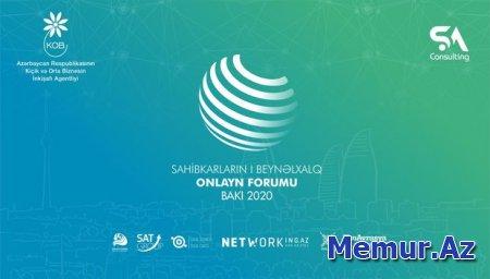 """""""Sahibkarların I beynəlxalq onlayn forumu - Bakı 2020"""" keçiriləcək"""