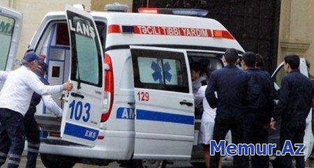 Zərdabda iki avtomobilin toqquşması nəticəsində xəsarət alan şəxs Bakıya gətirildi