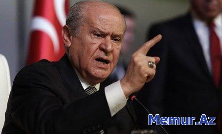 """Dövlət Bahçeli: """"Dağlıq Qarabağ terror dövləti Ermənistanın başına vura-vura alınmalıdır"""""""