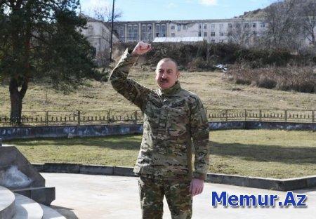 """Prezident: """"Bütün şəhid ailələrinə dövlət tərəfindən mənzillər, evlər veriləcək"""""""