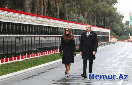 İlham Əliyev və Mehriban Əliyeva Şəhidlər Xiyabanını ziyarət etdilər