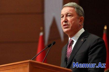 """Hulusi Akar: """"Azərbaycan bizim qardaşımızdır, bunu 44 günlük mübarizədə təsdiqlədik"""""""