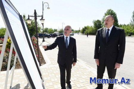 İlham Əliyev Ordubadın su təchizatı layihəsinin açılışında iştirak edib