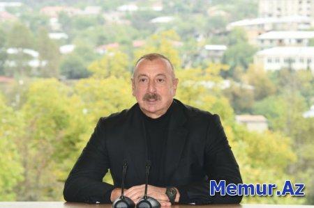 """Prezident: """"Azərbaycan xalqı Ordumuzun arxasında dayandı, mənim arxamda dayandı, bizə inandı"""""""